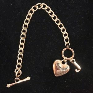 Juicy Couture gold toggle bracelet